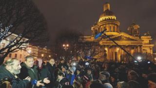 Акция против передачи Исаакиевского собора в пользование РПЦ в Петербурге 13 января 2017 года