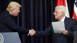 Donald Trump ve Mahmud Abbas