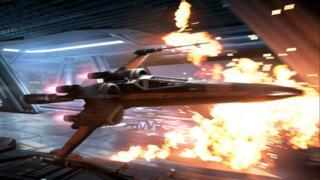 Scene from Star Wars Battlefront II