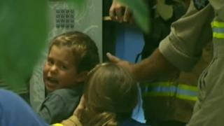 A boy from remote Australia gets stuck in the first vending machine he has ever seen