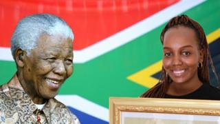 Mandela and his great grandaughter