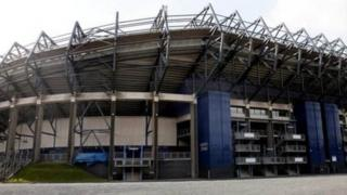 Murrayfield Stadium in Edinburgh