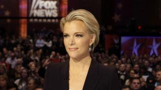 Megyn Kelly waits for the start of the Republican presidential primary debate in Des Moines, Iowa., 28 January 2016
