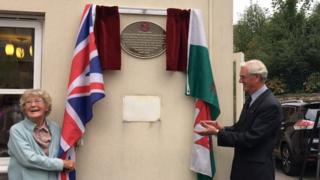 The plaque was unveiled on Wednesday morning