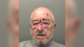 John Harvey's police custody mugshot