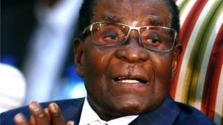 Madaxweynaha Zimbabwe Robert Mugabe