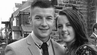 Liam Hibbins with Beth