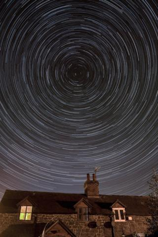 in_pictures Star trail over Shropshire