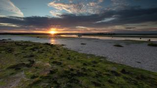 Sunset at Maylandsea in Essex