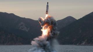 Misil lanzado por Corea del Norte.