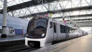 Aventra train at Waterloo Station