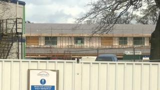 Welshpool school construction site