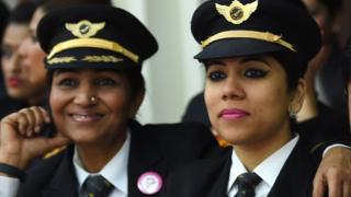 Mujeres piloto de India.
