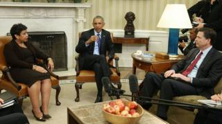 Obama, Loretta Lynch and James Comey
