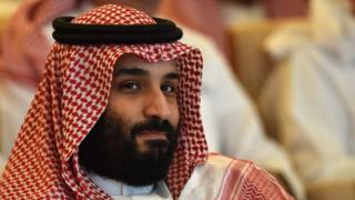Mohamed bin Salman en Future Investment Initiative 2018.