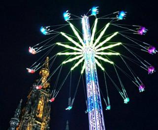Starflyer at Edinburgh Christmas market