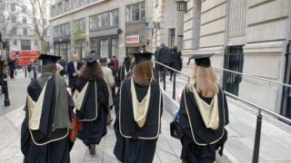 Graduating students outside LSE