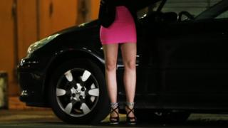 Prostitute in Nice, France - file pic
