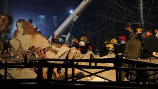 Обрушение здания в Китае в октябре 2015 года