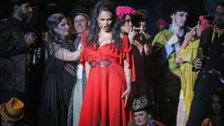 Arşiv fotoğrafı - Temmuz 2017'de, Avusturya'daki Bregenz festivalinde sahlenen Carmen operası