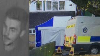 CCTV image and crime scene
