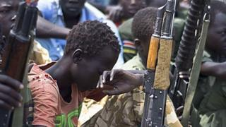 Child soldier disarmament, Feb 2015