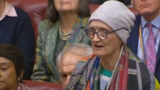 Tessa Jowell speaking in the House of Lords in 2018