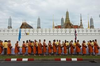 biksu di thailand, foto generik