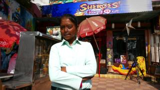 Dolly - who works at the Sheroes cafe in Agra, which helps acid attack victims.
