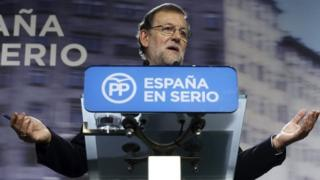 Spanish PM Mariano Rajoy speaks at a news conference in Madrid. Photo: 21 December 2015
