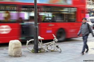 Ghost bike in London