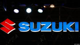 Suzuki logo at a car show