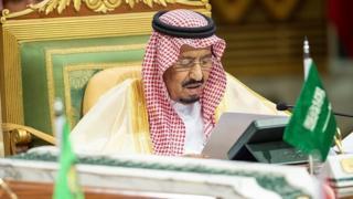 King of Saudi Arabia, Salman bin Abdulaziz Al Saud makes a speech during the 39th Gulf Cooperation Council (GCC) Summit in Riyadh, Saudi Arabia on December 09, 2018