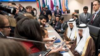Saudi Energy minister at Opec meeting