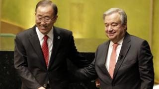 Antonio Guterres, Ban Ki-moon, PBB