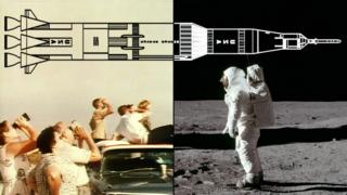 Montaje sobre Apolo 11