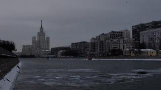 The grey skyline of Moscow