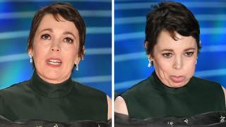 Olivia Colman at the Oscars