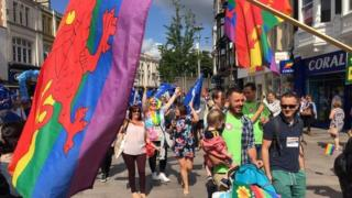 Pride Cymru march
