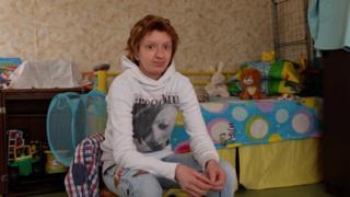 Natalia Sizova at home in Togliatti