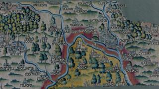 Oxford map tapestry