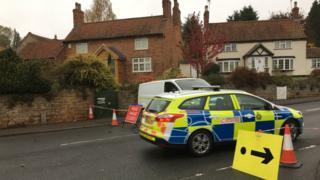 Police at scene in Thurgaton
