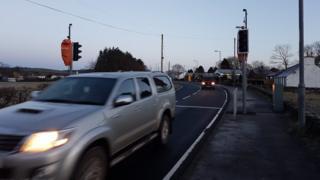 Springholm traffic lights