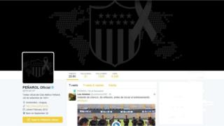 Screen grab of Penarol's Twitter account