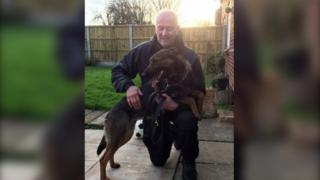 Sgt David Evans with Ivy