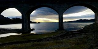 arches of Loch Nan Uamh viaduct
