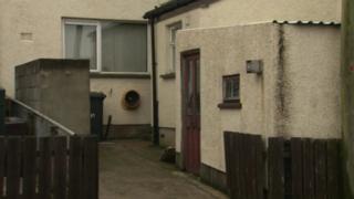 The scene of the burglary