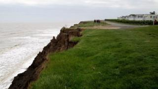 Cliff erosion to Far Grange Park
