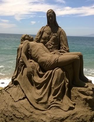 Escultura de arena en Puerto Vallarta