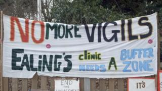 Ealing abortion clinic protests